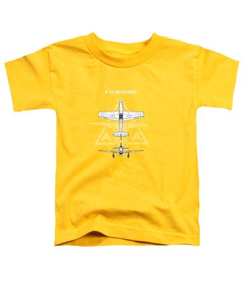 P-51 Mustang Toddler T-Shirt by Mark Rogan