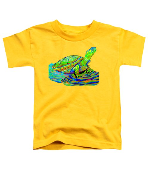 Painted Turtle Toddler T-Shirt by Rebecca Wang