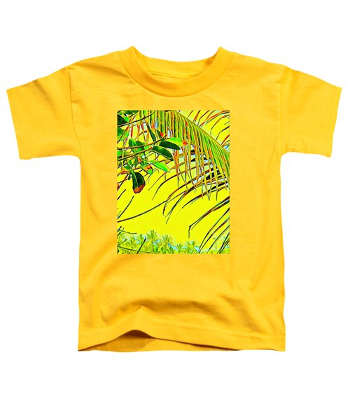 Palm Fragment In Yellow Toddler T-Shirt