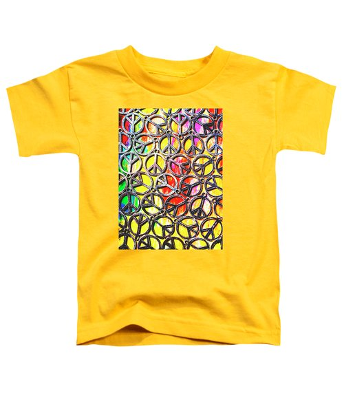 Peace In All Colours Toddler T-Shirt