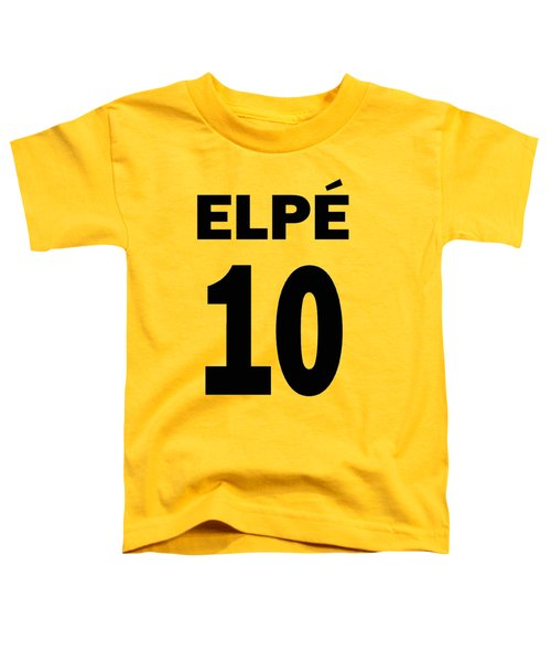 Pele 10 Toddler T-Shirt by Charlie Ross