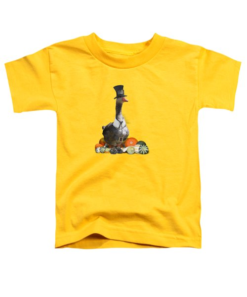 Pilgrim Goose Toddler T-Shirt by Gravityx9 Designs