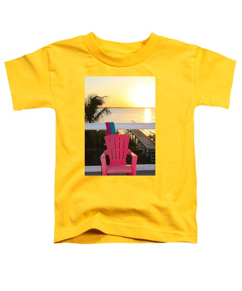 Pink Chair In The Keys Toddler T-Shirt