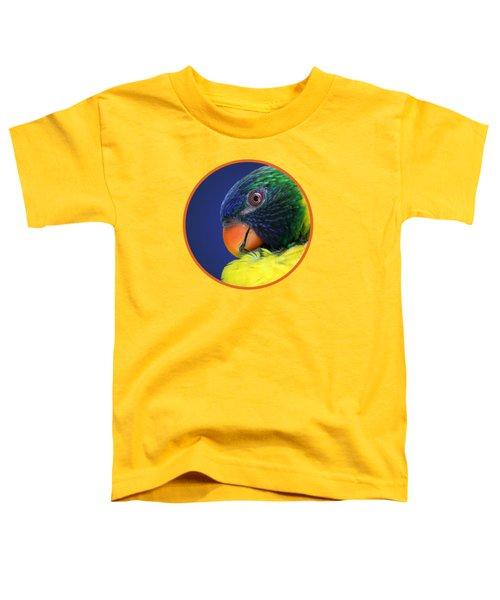 Profile Of A Lorikeet Toddler T-Shirt