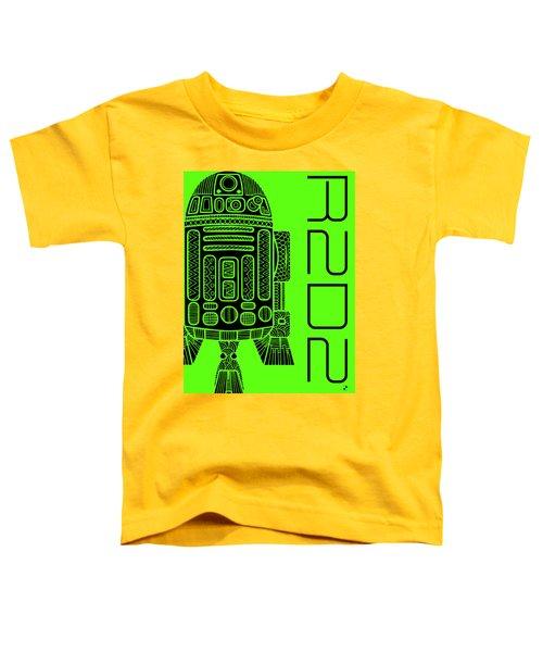 R2d2 - Star Wars Art - Green Toddler T-Shirt
