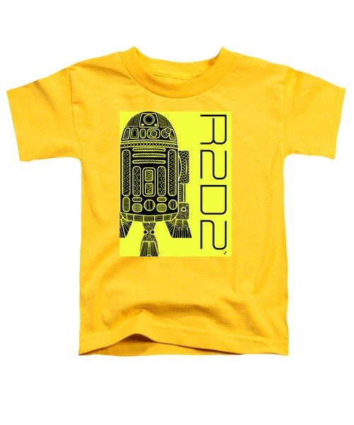 R2d2 - Star Wars Art - Yellow Toddler T-Shirt