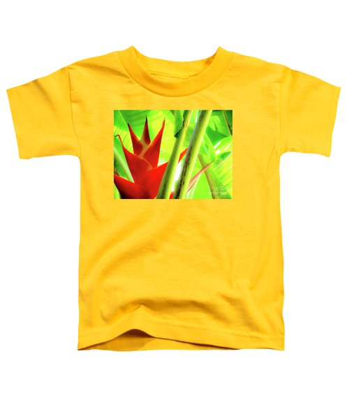 Red Heliconia Toddler T-Shirt