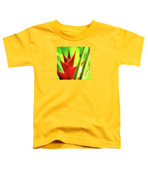 Red Heliconia Plant Toddler T-Shirt