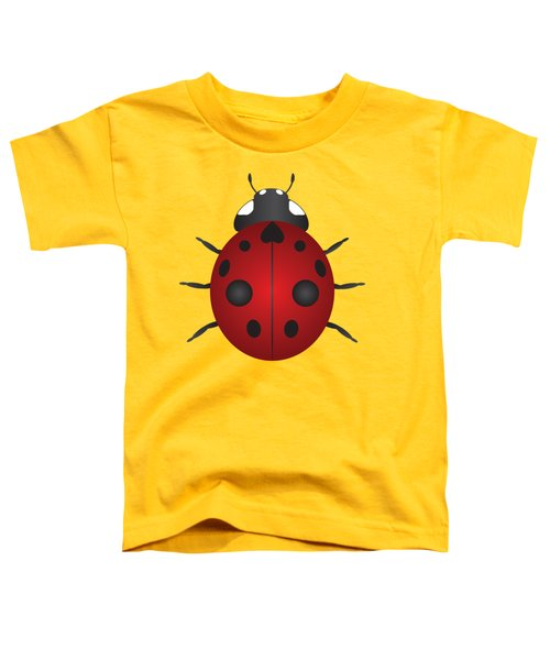 Red Ladybug Color Illustration Toddler T-Shirt by Jit Lim
