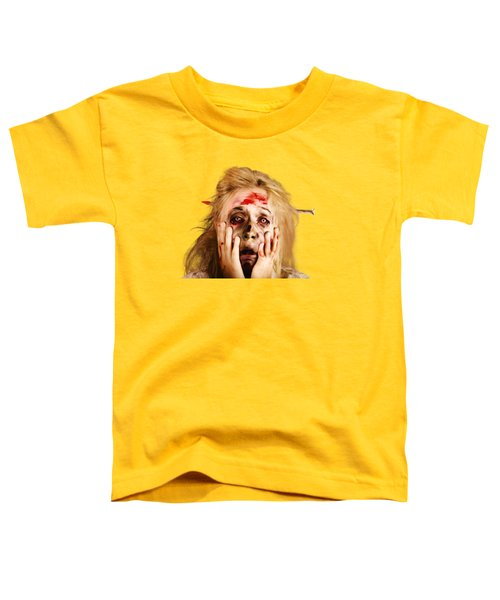 Scared Halloween Monster With Nail Through Head Toddler T-Shirt