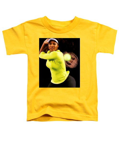 Serena Williams Bamm Toddler T-Shirt by Brian Reaves
