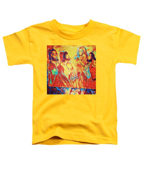 Shadrach, Meshach And Abednego In The Fire With Jesus Toddler T-Shirt