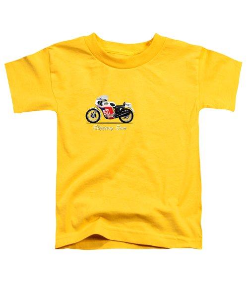 Slippery Sam Production Racer Toddler T-Shirt by Mark Rogan