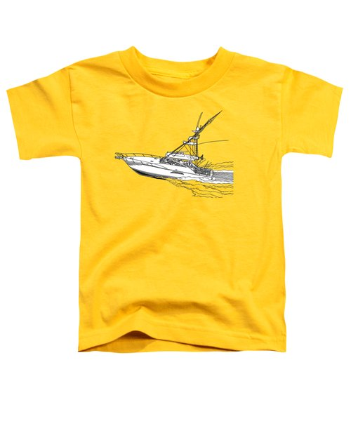 Sportfish Yacht Custom Tee Shirt Toddler T-Shirt