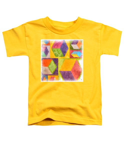 Square Cubes Abstract Toddler T-Shirt
