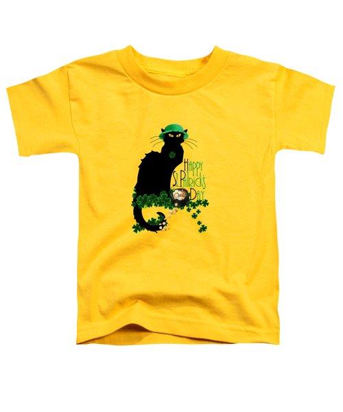 St Patrick's Day - Le Chat Noir Toddler T-Shirt