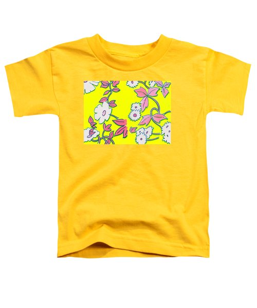 Summer Garden Climbing Plants Yellow Purple Toddler T-Shirt