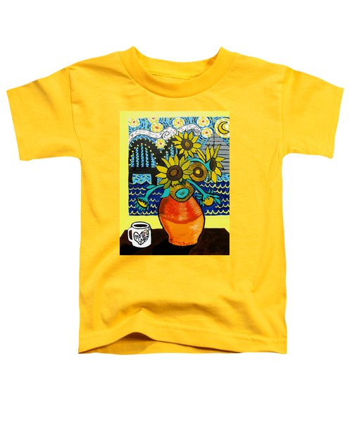 Sunflowers And Starry Memphis Nights Toddler T-Shirt