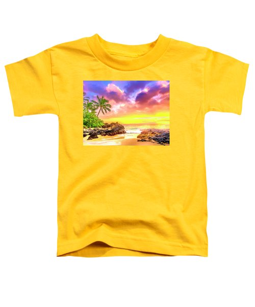 Sunset At Secret Beach Maui Toddler T-Shirt