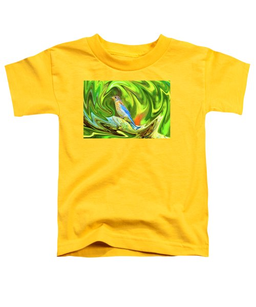 Swirling Bluebird  Toddler T-Shirt