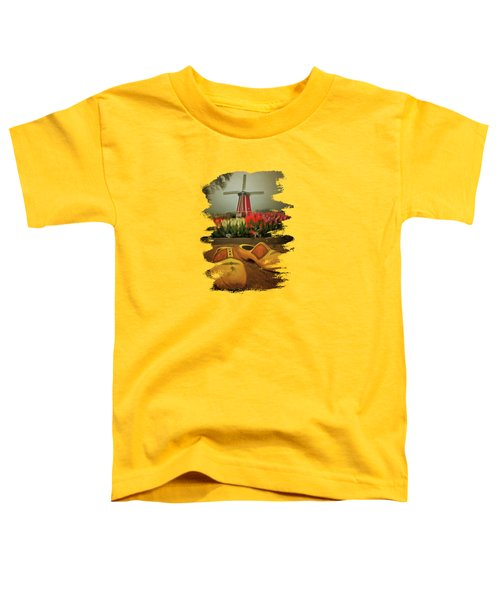 The Yellow Wooden Shoes Toddler T-Shirt by Thom Zehrfeld