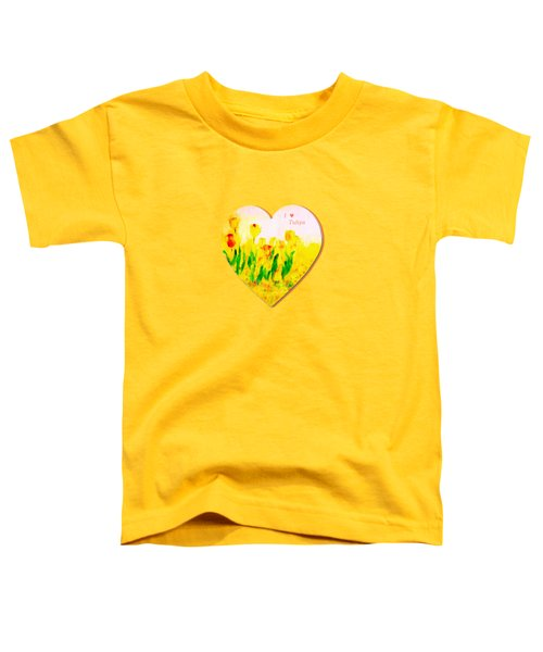 Tulips In Springtime-floral Painting By V.kelly Toddler T-Shirt by Valerie Anne Kelly