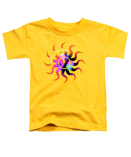 Vibrant Circle On Orange Toddler T-Shirt