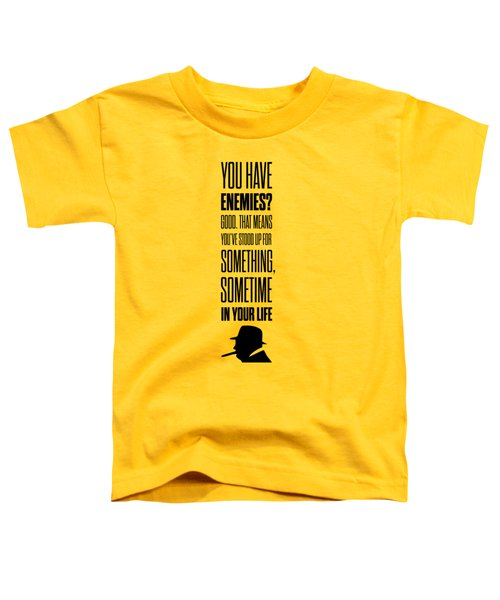 Winston Churchill Inspirational Quotes Poster Toddler T-Shirt