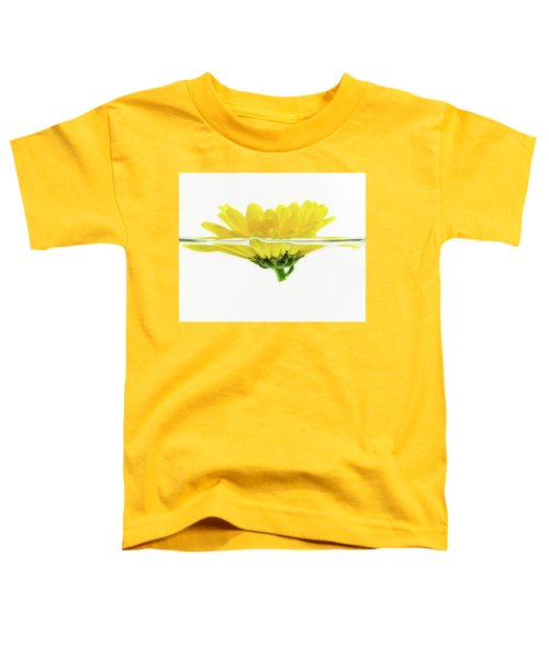 Yellow Flower Floating In Water Toddler T-Shirt