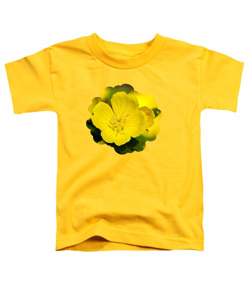 Yellow Flowers - Evening Primrose Toddler T-Shirt by Christina Rollo
