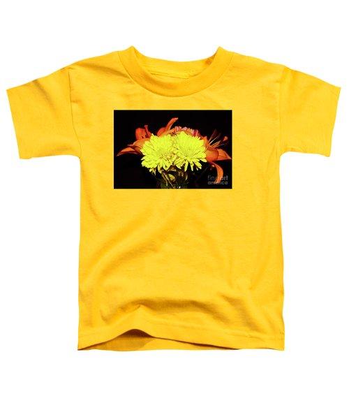 Yellow Mums And Orange Lilies  Toddler T-Shirt