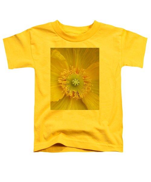 Yellow Poppy Flower Center Toddler T-Shirt