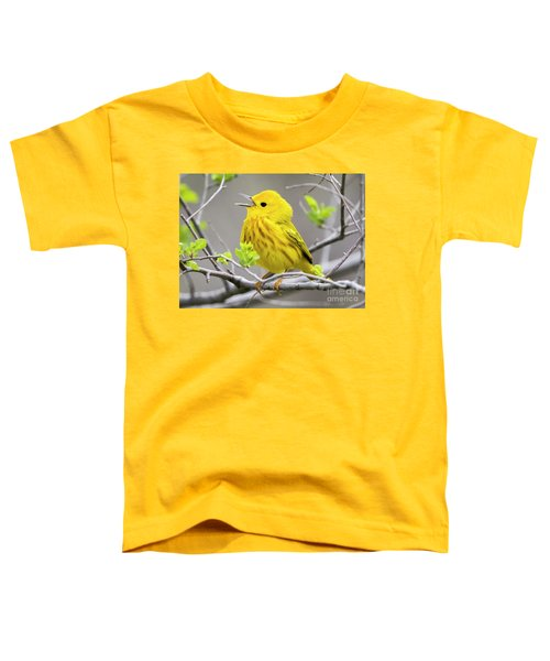 Yellow Warbler  Toddler T-Shirt by Ricky L Jones