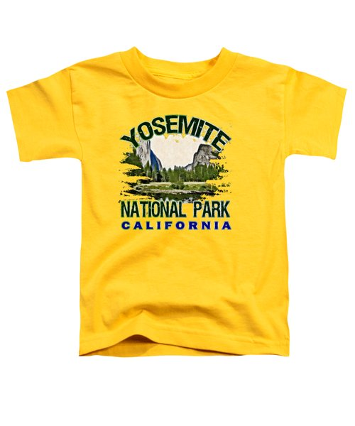 Yosemite National Park Toddler T-Shirt by David G Paul