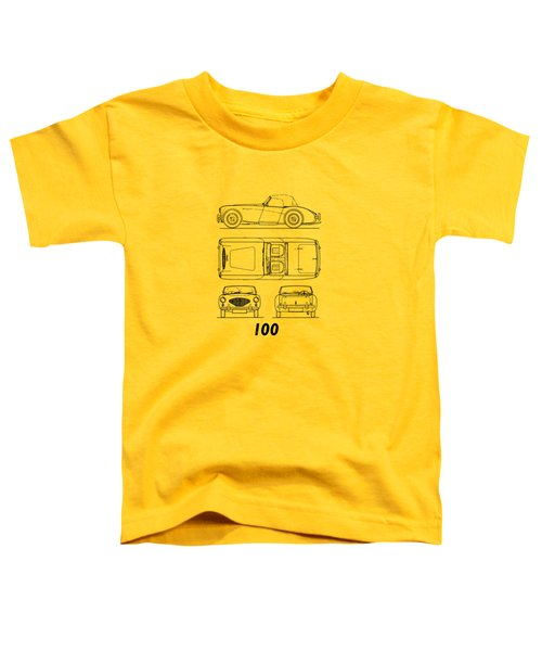 Austin Healey 100 Blueprint - Black Toddler T-Shirt