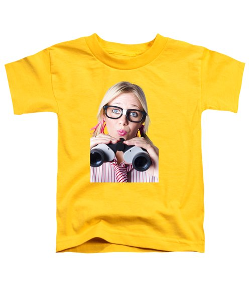 Brainy Businesswoman Looking To Future Development Toddler T-Shirt