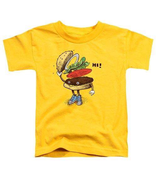 Burger Greeting Toddler T-Shirt