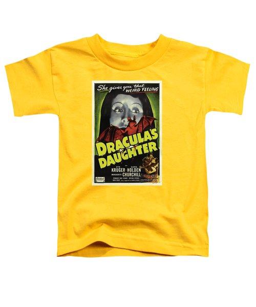 Classic Movie Poster - Draculas Daughter Toddler T-Shirt