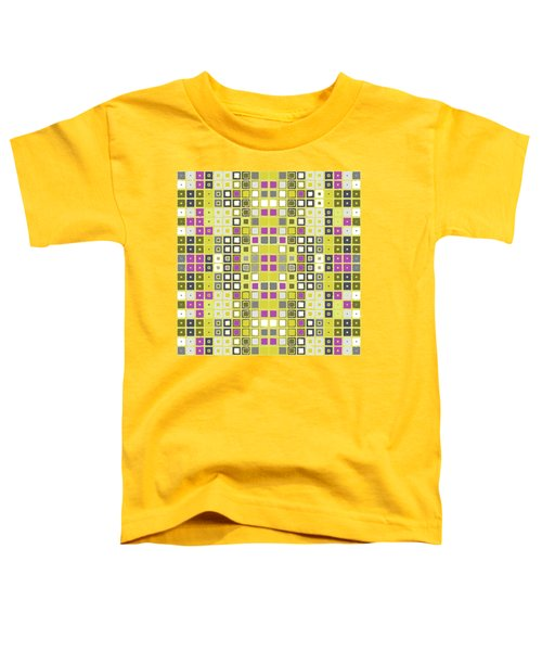 Toddler T-Shirt featuring the digital art Data Pink And Yellow by Joy McKenzie
