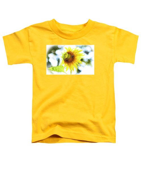 Honey Bees On Sunflower Toddler T-Shirt