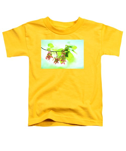 Impressionistic Maple Seeds And Foliage Toddler T-Shirt