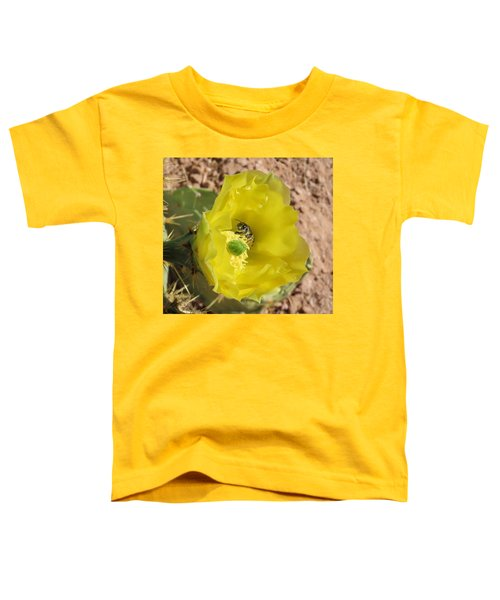 Leaf-cutter Bee Bathing In Gold Toddler T-Shirt