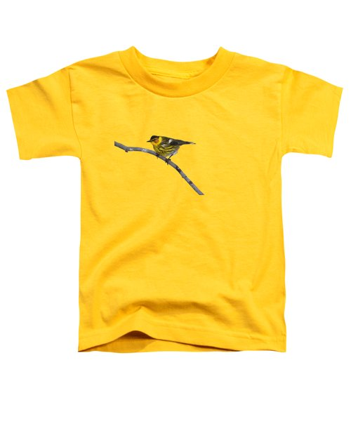 Male Cape May Warbler Toddler T-Shirt
