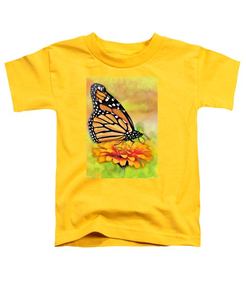 Monarch Butterfly On Flower Toddler T-Shirt