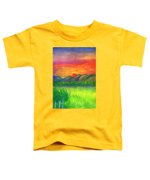 Mystical Red Sunset Toddler T-Shirt