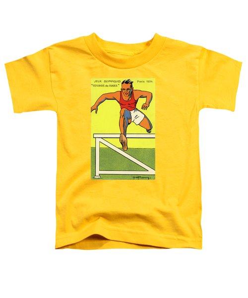 Olympics 1924 Paris France Hurdle Race Toddler T-Shirt