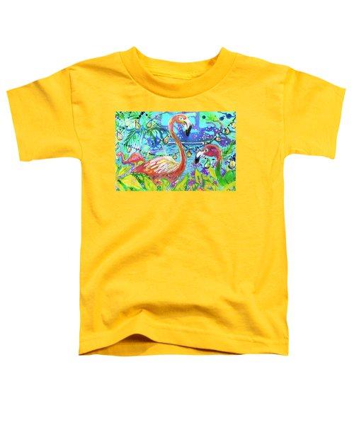 Outdoor Flamingo Party Toddler T-Shirt