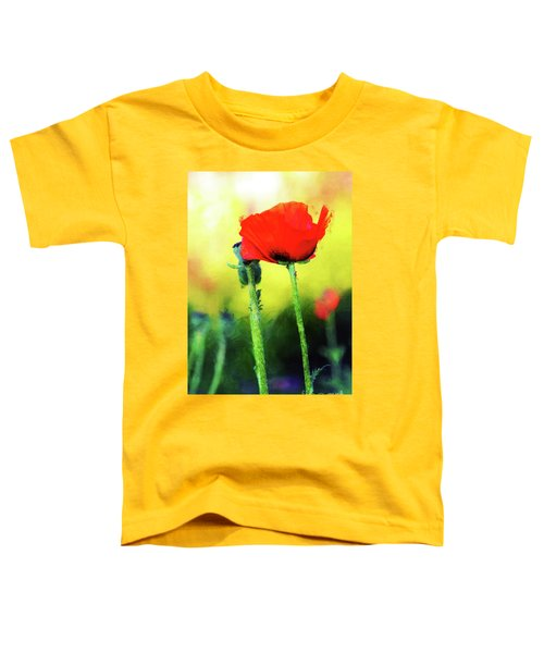 Painted Poppy Abstract Toddler T-Shirt