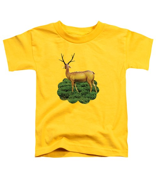 Pretty Deers Playing In The Forest. Toddler T-Shirt