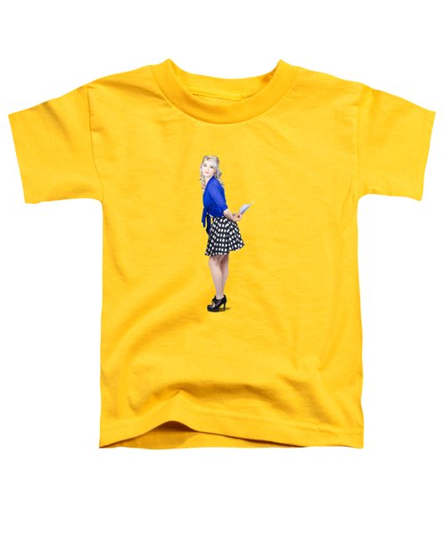 Pretty Housewife With Washing Cloth. Clean Style Toddler T-Shirt